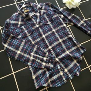 Thick high-quality fleece button up size M